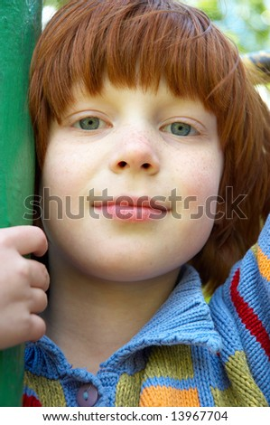 The girl close up - stock photo