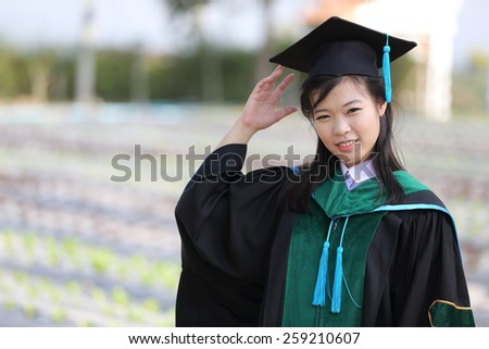 The girl in Graduation day - stock photo