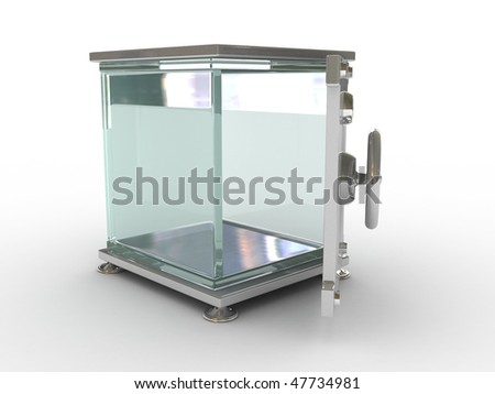 The glass Safe - stock photo