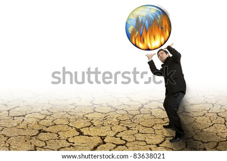 The global warming every day - stock photo