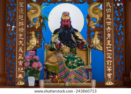 The God of wealth rich and prosperity chinese style - stock photo
