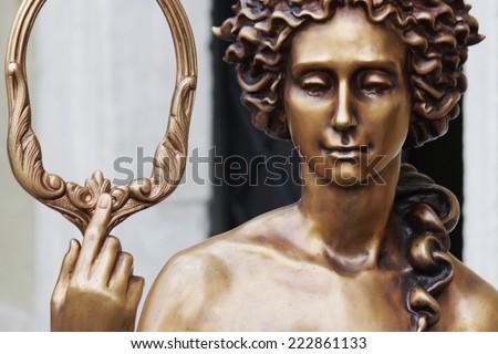 The goddess of love Aphrodite (Venus in Roman mythology). - stock photo
