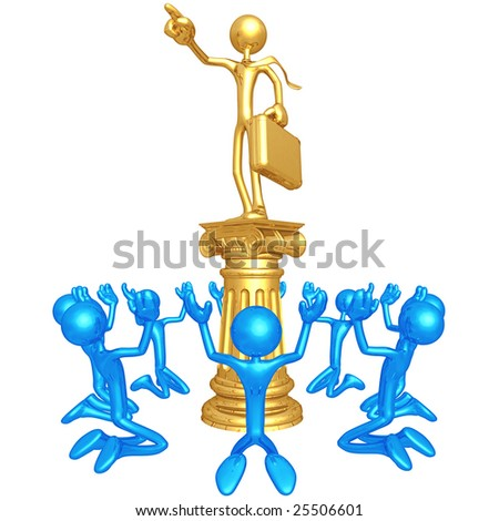 The Golden Boy Idol - stock photo