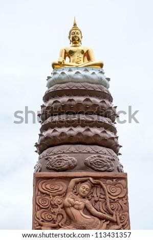 the golden buddha,Thailand - stock photo
