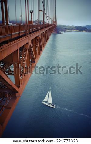 The Golden Gate Bridge of San Francisco, California. - stock photo