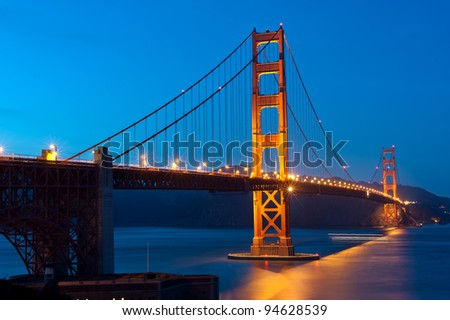 The Golden Gate Bridge - San Francisco - stock photo