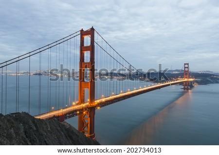 The Golden Gate Bridge. San Francisco. California. - stock photo