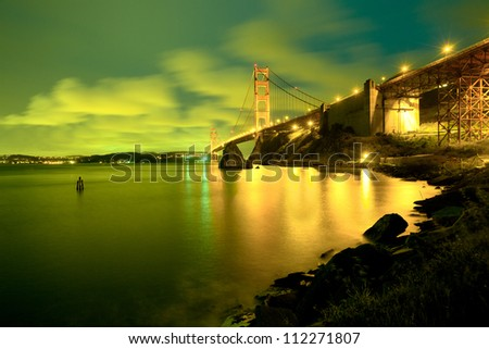 The Golden Gate Bridge, San Francisco, California, USA - stock photo