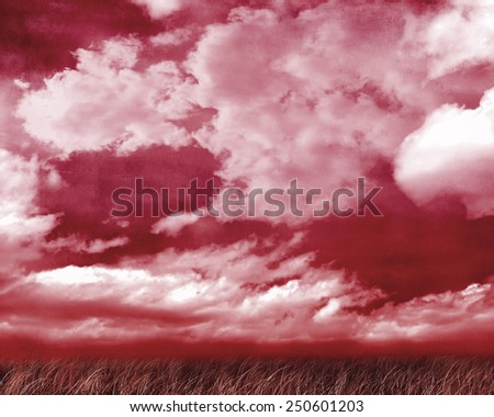 The gothic dark background/landscape - stock photo