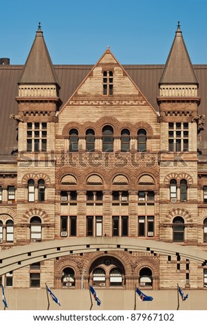 The gothic style building of the old city Hall in Toronto, Ontario, Canada - stock photo