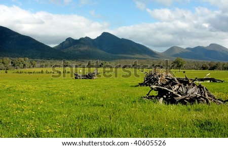 The Grampians National Park in Victoria, Australia - stock photo