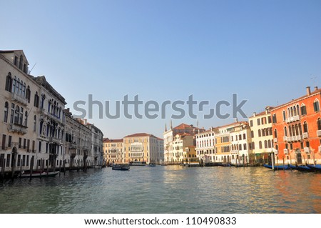 The Grand Canal in Venice - stock photo