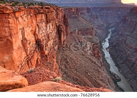 The grand canyon from toroweap viewpoint on the north rim - stock photo