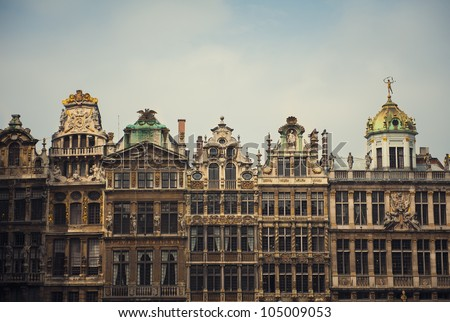 The Grand-Place; UNESCO world heritage site in Brussels, Belgium - stock photo
