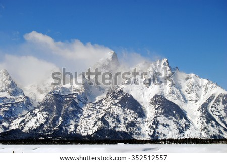 The Grand Tetons of Wyoming / Cold Peaks - stock photo