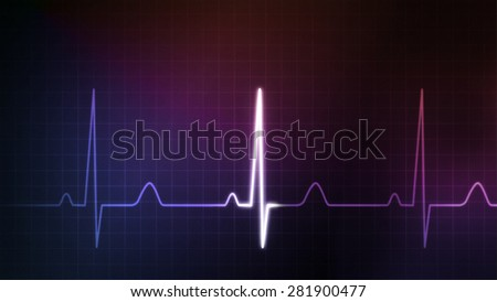 The graphic of EKG monitor for medical theme - stock photo