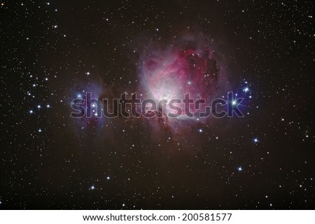 The Grate Orion Nebula (M42) This is a Nebula in Orion Constellation. - stock photo