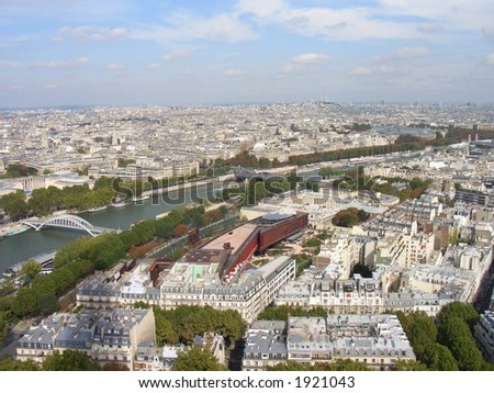 The great city of Paris - stock photo