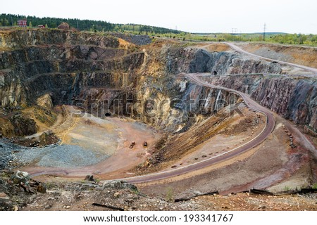 The great copper pit world heritage site in Falun, Sweden - stock photo