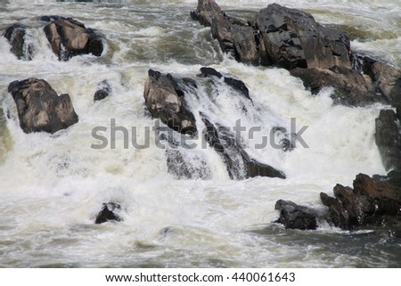 The Great Falls of the Potomac - stock photo