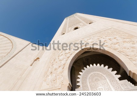 The Great Hassan II Mosque in Casablanca, Morocco - stock photo