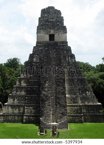 The great Jaguar, Tikal, Guatemala - stock photo