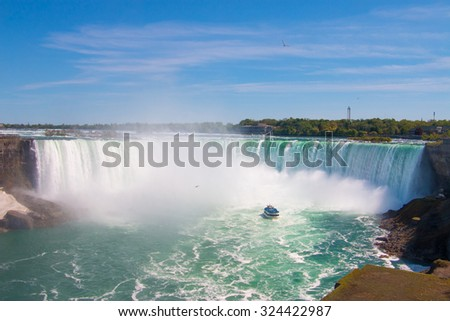The great Niagara Falls.  - stock photo
