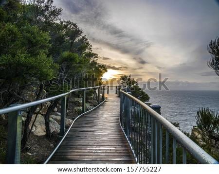 The Great Ocean Road near the Twelve Apostles, Victoria, Australia. - stock photo