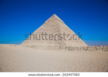 The Great Pyramid of Giza - stock photo