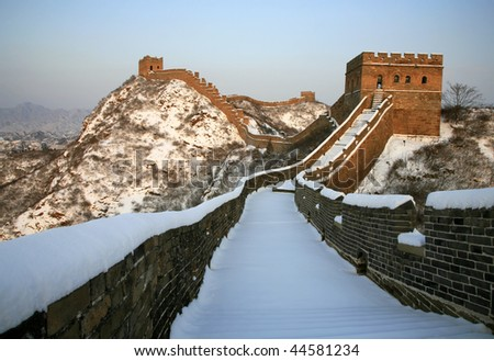 """The Great Wall is the universal symbol of China. A famous saying goes """"He who has never been to the Great Wall is not a true man"""" - stock photo"""
