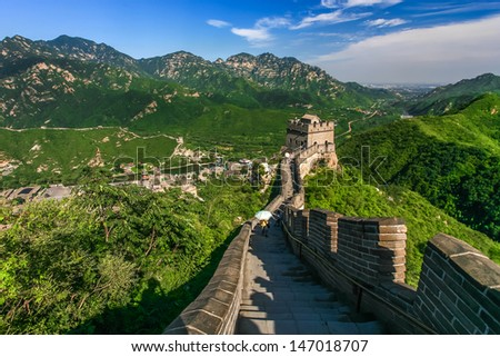The Great Wall of China - stock photo