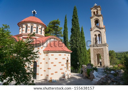 The Greek Orthodox Church. Rhodes. Greece - stock photo