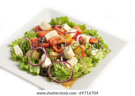 The Greek salad - stock photo