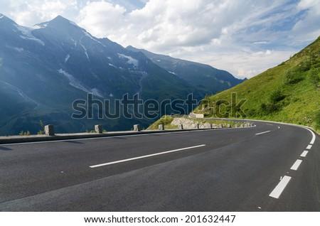 The Grossglockner Hochalpenstrasse, a famous mountain road in Austria. - stock photo