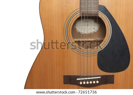 The guitar on white isolate - stock photo
