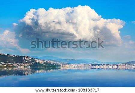 The Gulf of Trieste in  Adriatic sea. - stock photo