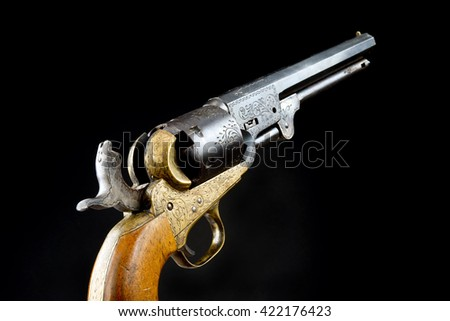 The gun that won the west, Six shooter. - stock photo