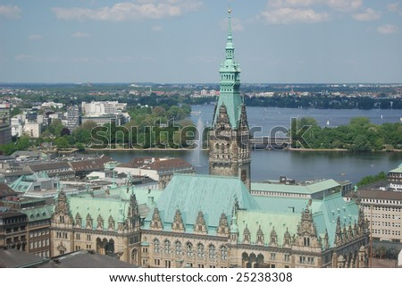 The hamburg town hall - stock photo