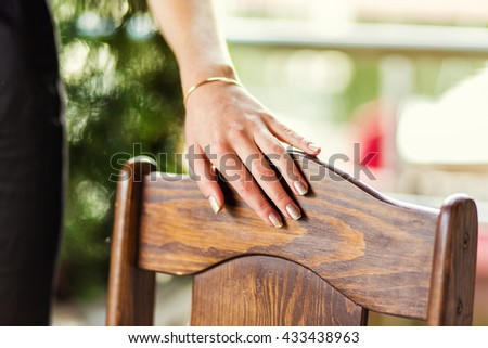 the hand of a beautiful young girl - stock photo