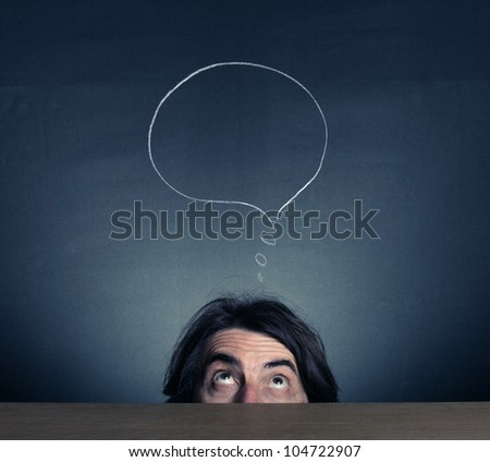 The head is thinking person. - stock photo