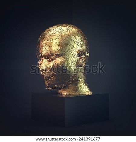 The head man of dollar signs - stock photo