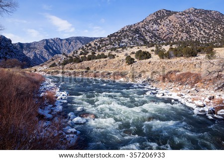 The headwaters of the Arkansas river, Colorado - stock photo