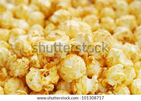 The heap of popcorn - stock photo
