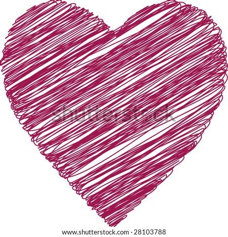 The heart of the red strokes.