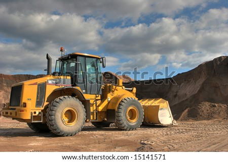 The heavy building bulldozer - stock photo