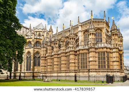 The Henry VII Chapel at the east end of Westminster Abbey. London, England, UK - stock photo