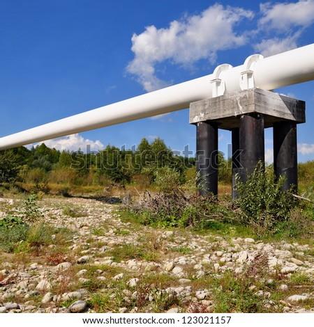 The high pressure pipeline - stock photo