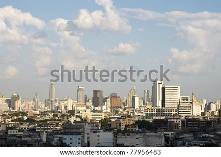 The high-rise buildings in Thailand - stock photo