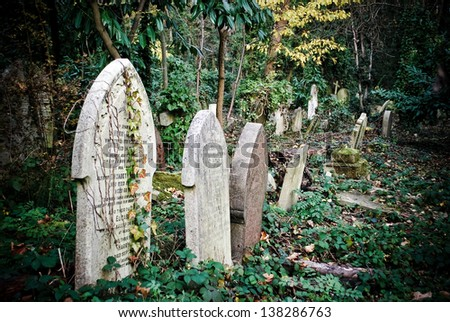 The Highgate Cemetery, London, UK - stock photo