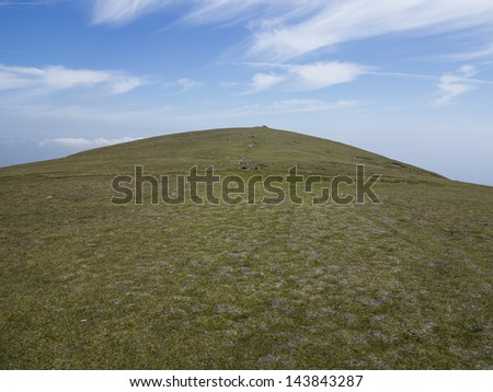 the hill - stock photo